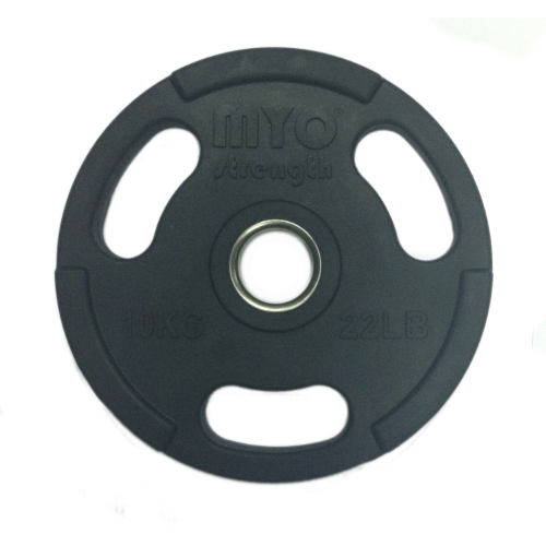 10kg Olympic Disc Rubber Coated Black