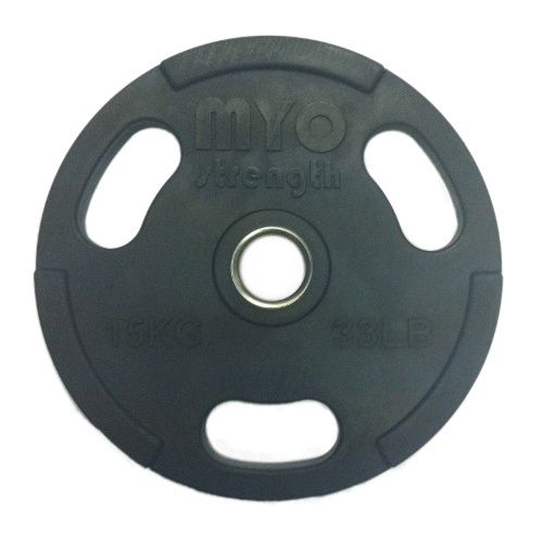 15kg Olympic Disc Rubber Coated Black
