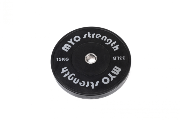 15kg Olympic Solid Rubber Bumper Plate Black